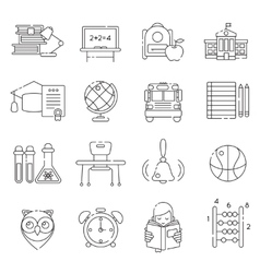 Basic Education Line Icon Set vector image vector image