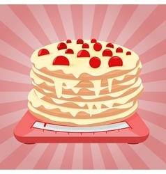 Cake on the scales vector