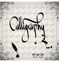 Calligraphic elements - black design vintage vector image vector image
