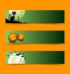 Creepy halloween banners vector