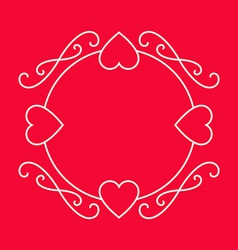 Elegant frame for love wishes Valentines day vector image