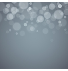 Gray background with defocused lights vector image
