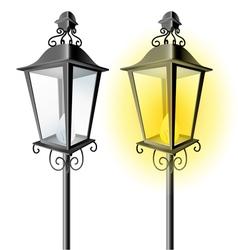 Old vintage street lamp vector image
