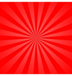 Red rays poster star burst vector image vector image