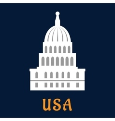 United States Capitol flat symbol vector image