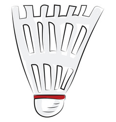 A shuttlecock stands upright with cap facing vector