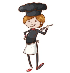 A simple coloured sketch of a chef vector