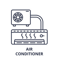air conditioner line icon concept air conditioner vector image