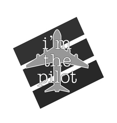 airplane with pilot icon grey color vector image