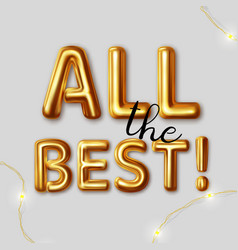 all best motivational graphic for best wished vector image