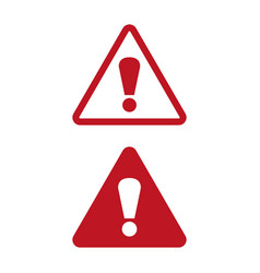 attention icon on white background vector image