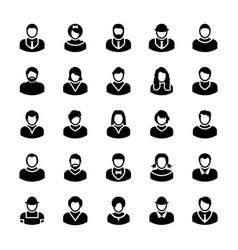 Avatars glyph icons 11 vector