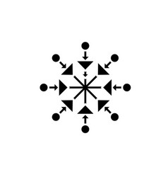 beautiful snowflake black icon sign on vector image