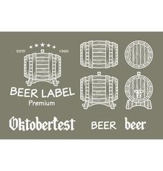 Beer set elements chalkboard octoberfest vector