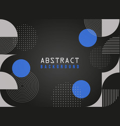 black abstract geometric business background vector image