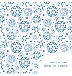 blue molecules texture frame corner pattern vector image