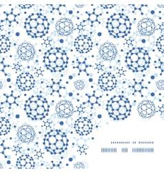 Blue molecules texture frame corner pattern vector
