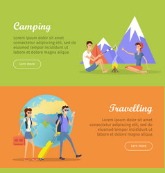 camping travelling posters web banners marketing vector image