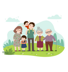 cartoon a happy family vector image