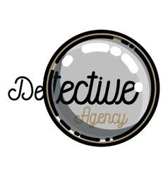 Color vintage detective agency emblem vector