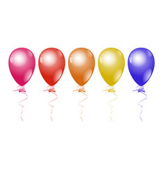 colorful helium balloons on a white background vector image