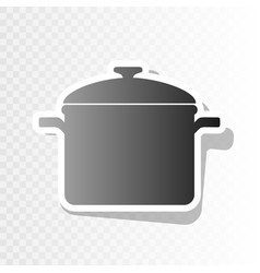 cooking pan sign new year blackish icon vector image