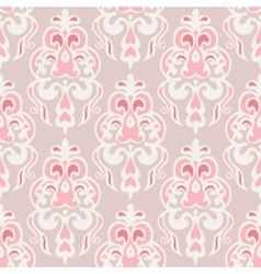 Cute pink seamless background design vector