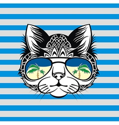 Design cat vector image