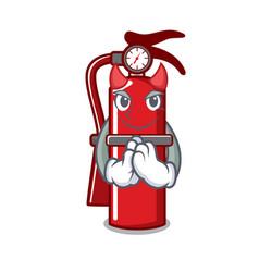 Devil fire extinguisher mascot cartoon vector