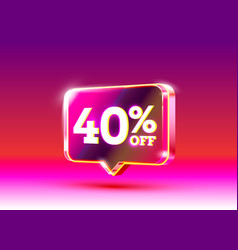 Discount special offer 40 off sale flyer vector