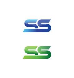 Double S initials vector