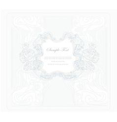 elegant vintage floral frame vector image