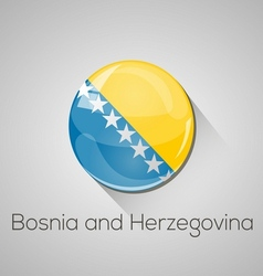 European flags set - Bosnia and Herzegovina vector image