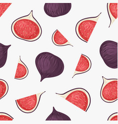 fig fruits hand drawn seamless pattern vector image