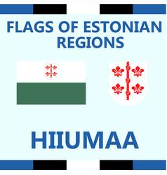Flag of estonian region hiiumaa vector