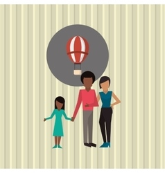 Flat of family design vector image
