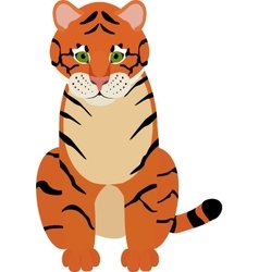 Fun cartoon of cute Tiger vector image