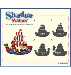 Game template with shadow matching ships vector
