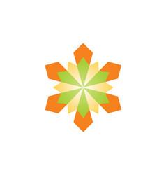 geometry shape flower logo vector image