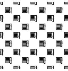 Glass door fridge pattern seamless vector