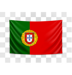 hanging flag portugal portuguese republic vector image
