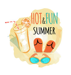 hot and fun summer background vector image