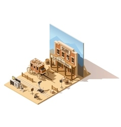 isometric low poly movie set vector image