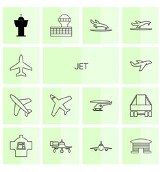 jet icons vector image
