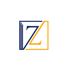 letter z building square creative abstract logo vector image