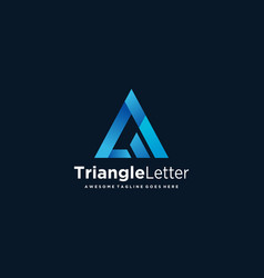 Logo abstract letter triangle a gradient colorful vector