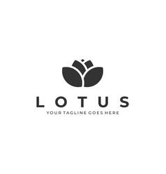 lotus flower template vector image