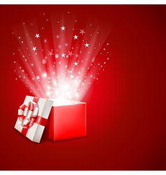 Magic gift vector image