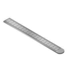 metal ruler icon isometric style vector image