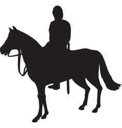 Military horseman on horseback vector